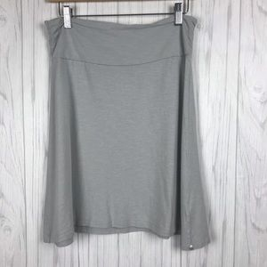 Horny Toad A Line Athleisure Skirt Size S Gray